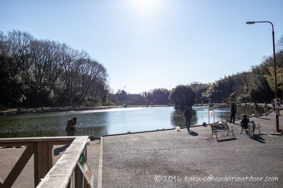2021年2月17日のFish on 王禅寺のイチロー池の様子