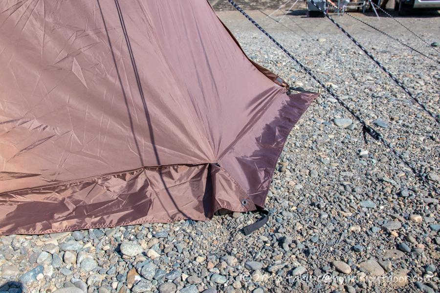 ハイランダー(Hilander)のツーポールテントのグランピアンのスカート