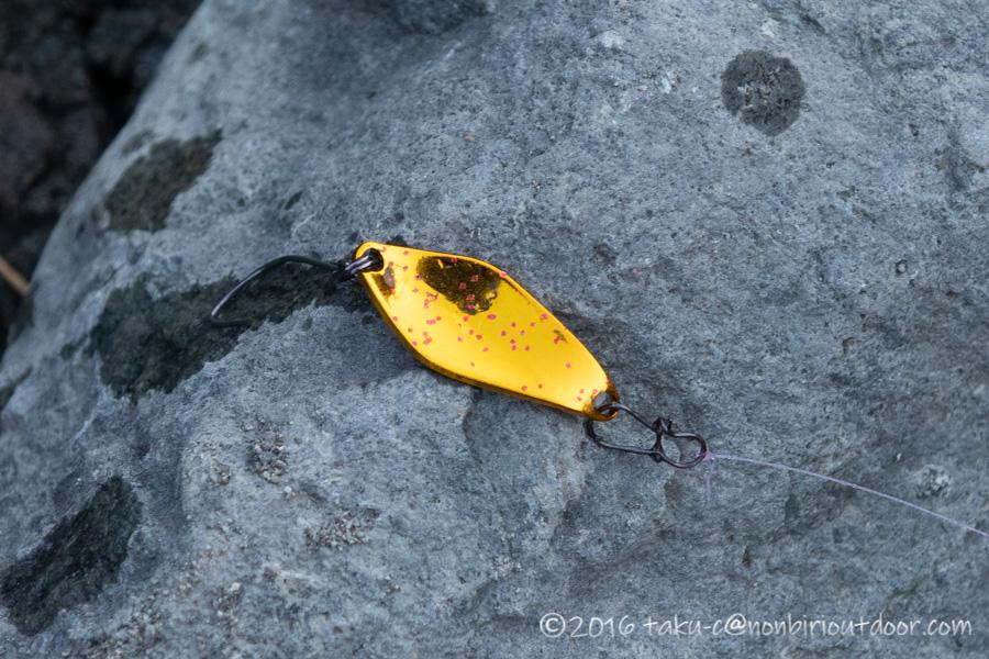 2021年2月24日のうらたんざわ渓流釣り場で釣れたハイバースト 1.6g No.66 ストロボシークレット