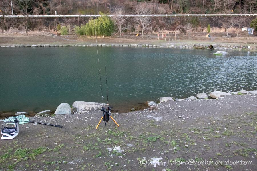 フィッシングフィールド中津川での3月上旬の釣り