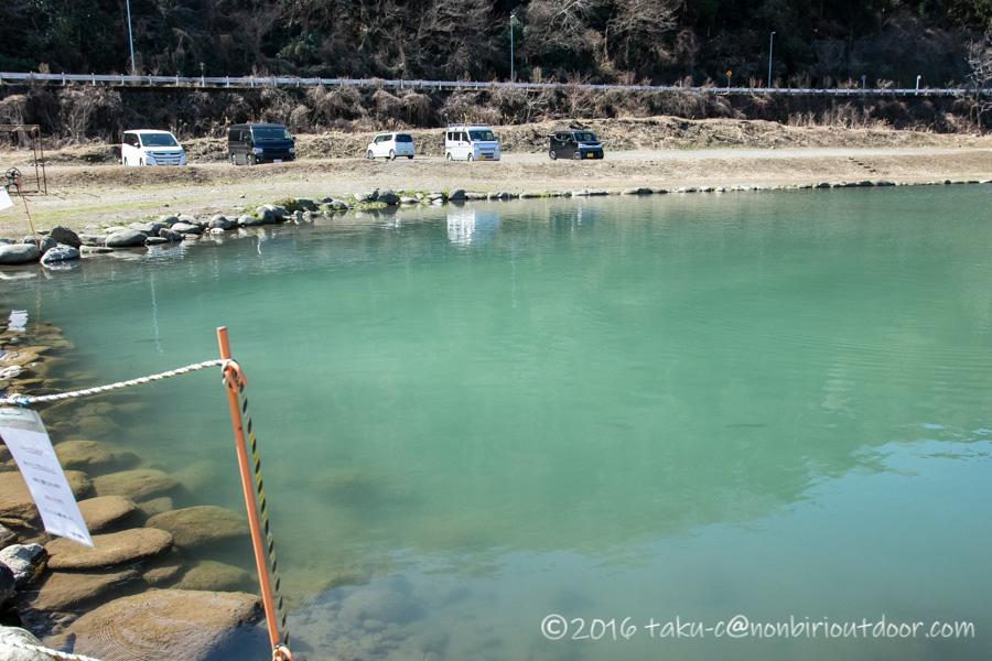 フィッシングフィールド中津川での3月上旬の濁りポンド