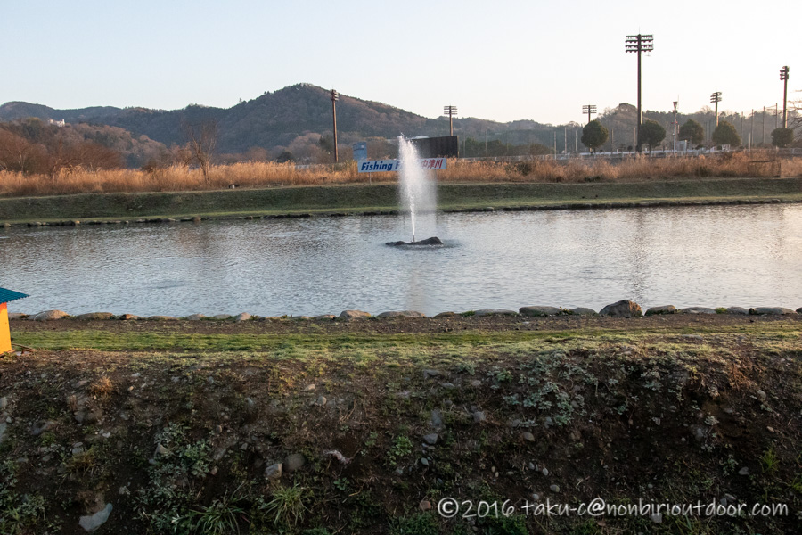 2021年3月17日のフィッシングフィールド中津川の朝の様子