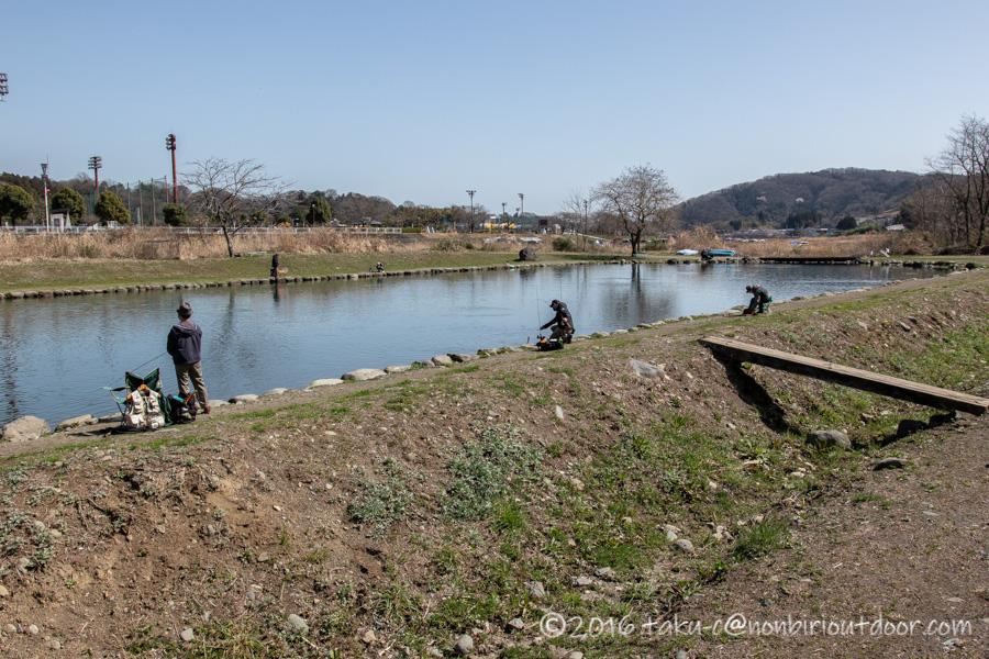 2021年3月17日のフィッシングフィールド中津川の日中の様子