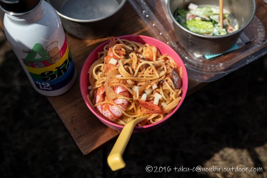 湯島オートキャンプ場のお昼ご飯