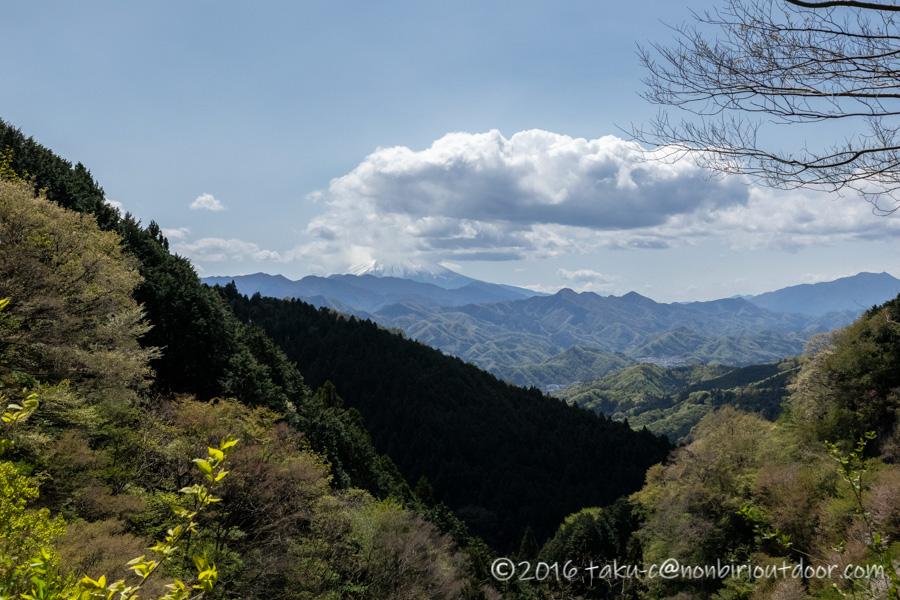 和田峠の茶屋から陣場山へハイキングの眺め