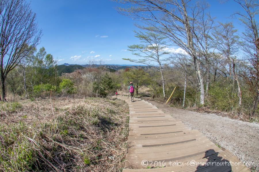 和田峠の茶屋から陣場山へハイキング
