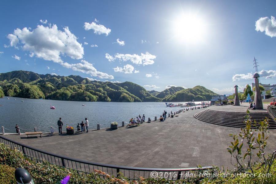 相模湖の風景