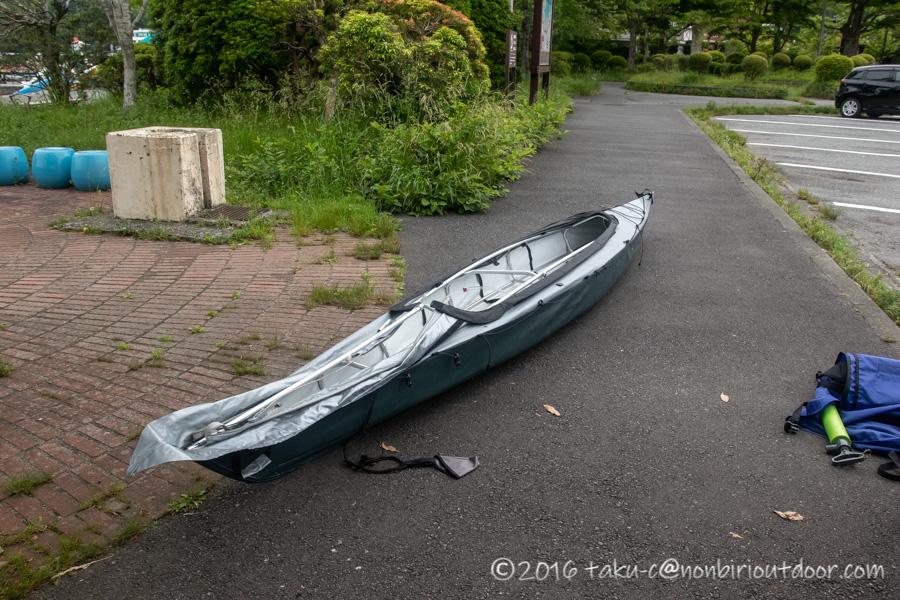 2021年06月02日の芦ノ湖でカヤック(フジタカヌー)を組み立てる