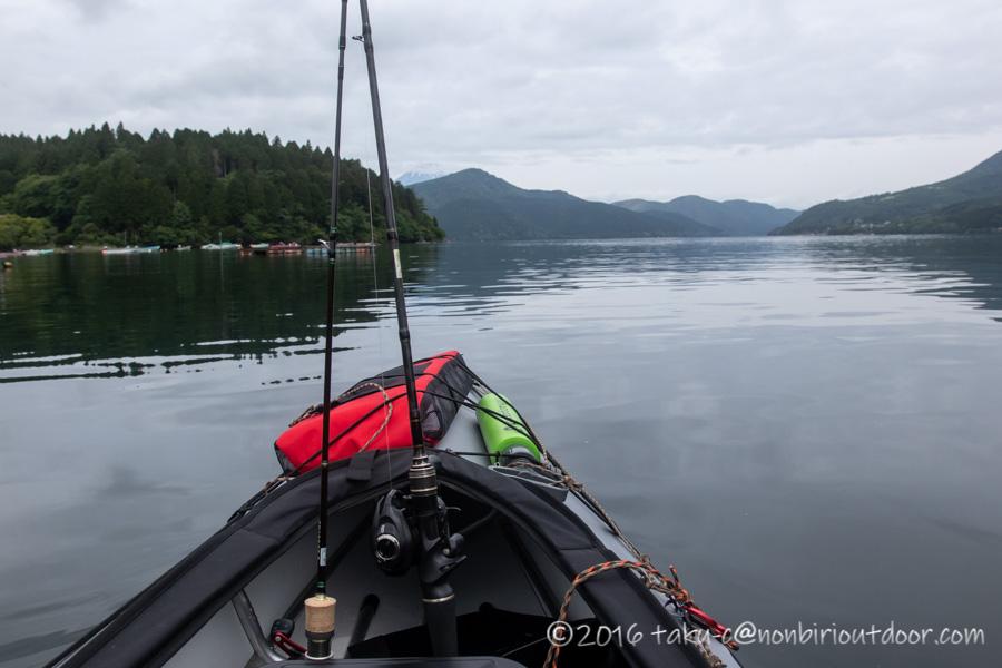 2021年06月02日の芦ノ湖でカヤック(フジタカヌー)からのジギング