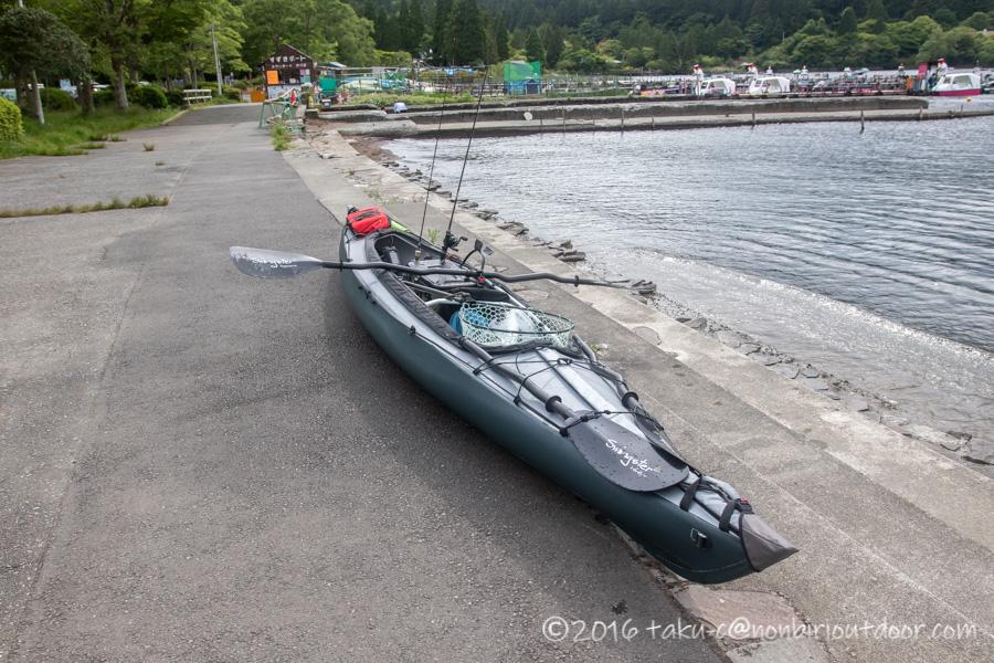 2021年06月02日の芦ノ湖でカヤック(フジタカヌー)の艤装