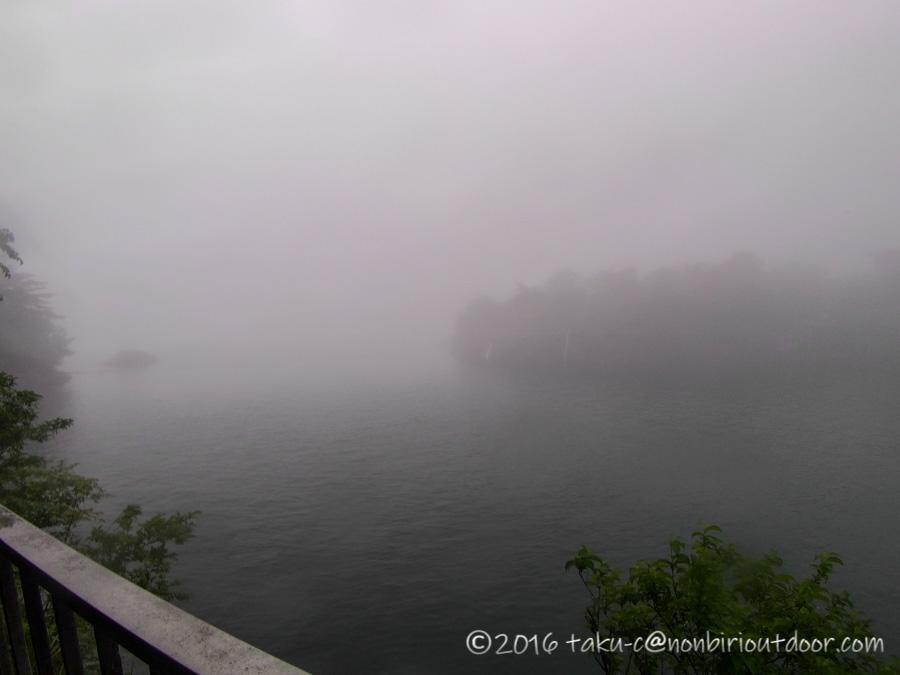 2021年5月19日の芦ノ湖の早川水門