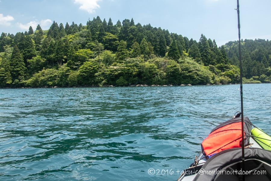 2021年6月9日の芦ノ湖でのレイクジギングは波が高かった