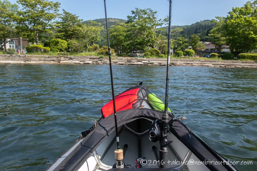 2021年6月9日の芦ノ湖でのレイクジギング