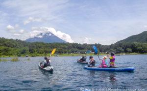 本栖湖で日帰りカヤック&SUP!透明度の高い本栖湖は最高ですねw